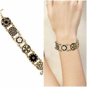 Vintage St John Bracelet Haute Couture Gold Tone